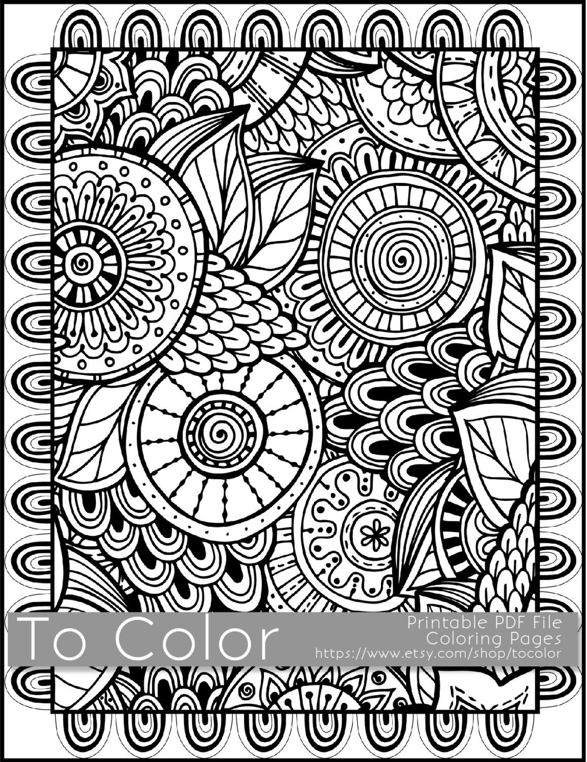 Pinkate Pullen On Free Coloring Pages For Coloring Fans - Free Printable Doodle Patterns