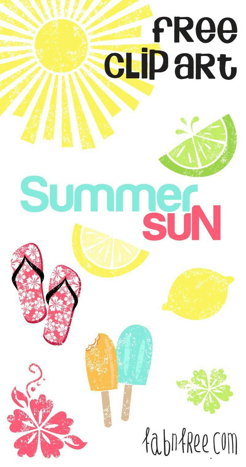 Pinleslie Cortinas On Jjc Birthday Parties   Pinterest   Sun - Free Printable Summer Clip Art