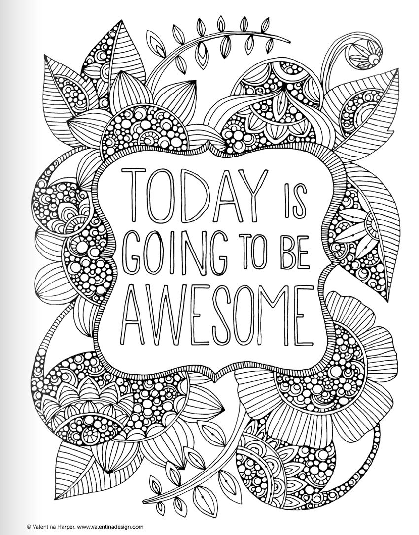 Pinlize Janse Van Vuuren On Colouring   Pinterest   Quote - Free Printable Quote Coloring Pages For Adults