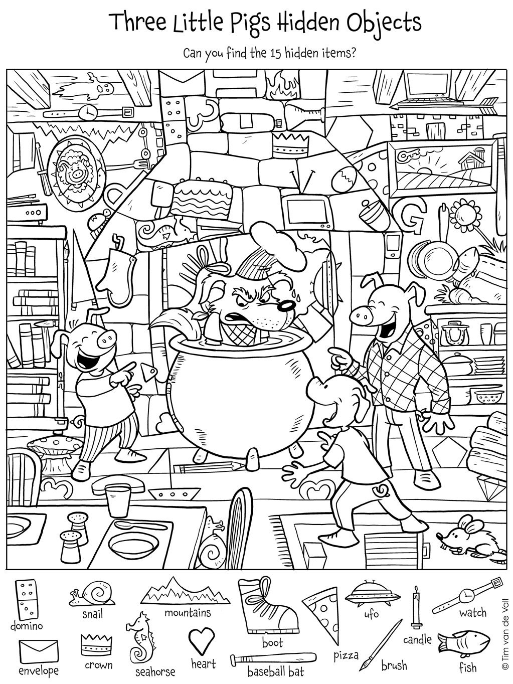 Pinmeilyn On Education   Hidden Pictures, Find The Hidden - Free Printable Hidden Object Games
