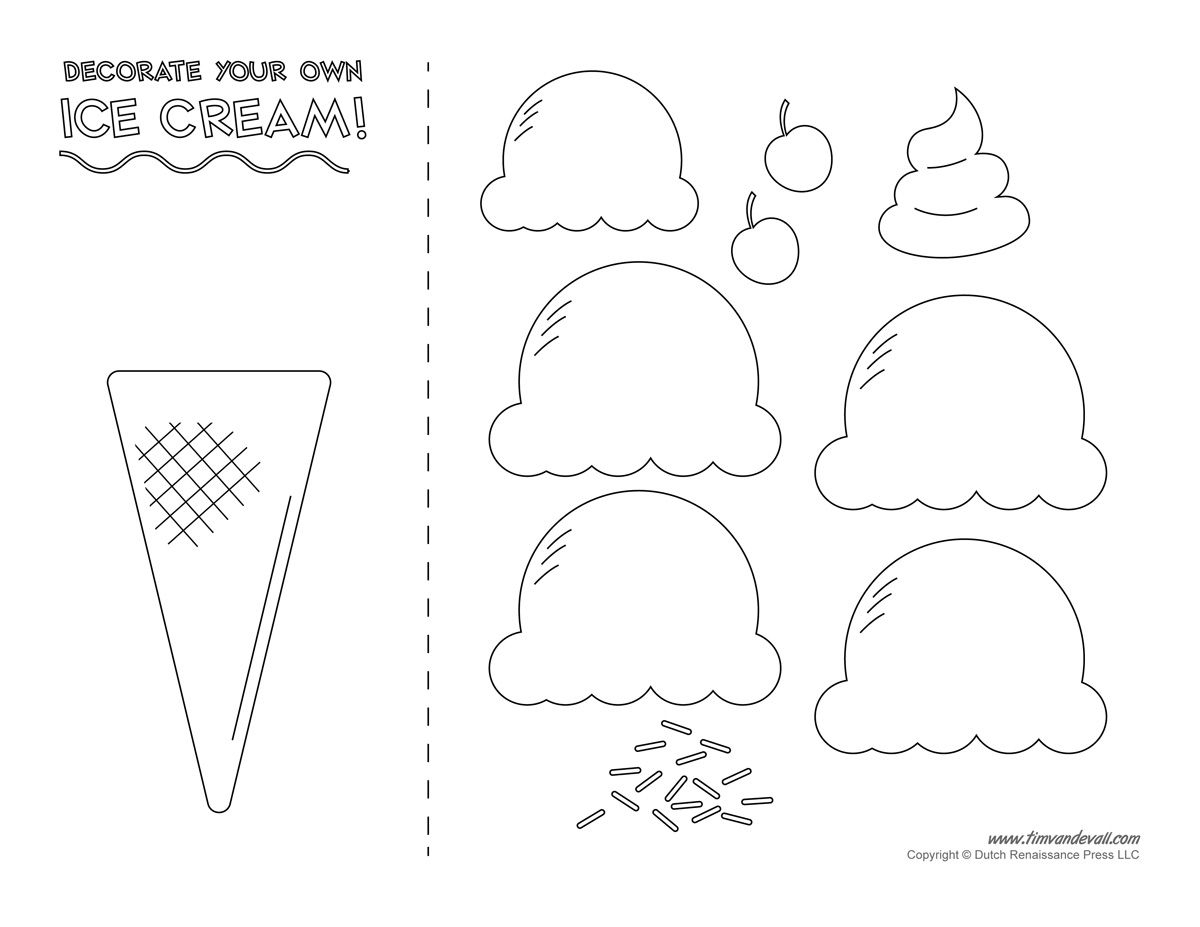 Pinmila Bravo On Ice Cream Decor | Ice Cream Template, Ice Cream - Ice Cream Cone Template Free Printable