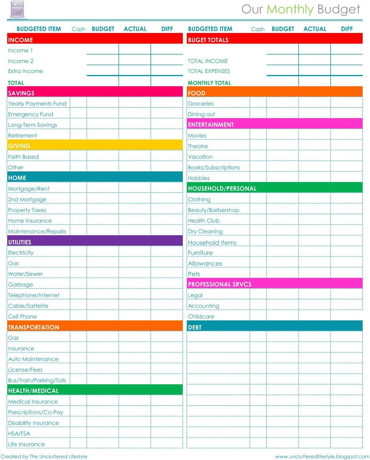 Pinprintables Kathy Loves <3 On Binders~Home Organization - Free Printable Home Organization Worksheets