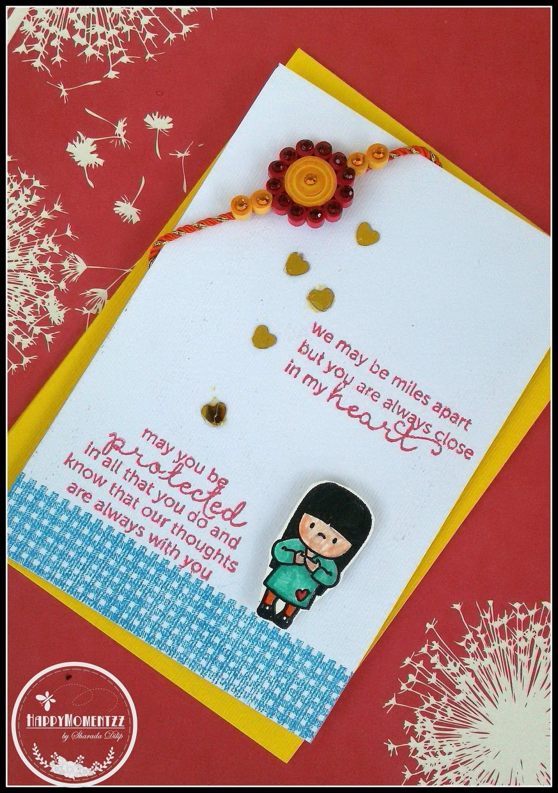 Pinshikha Chamaria On Rakhi Cards | Rakhi Cards, Handmade Rakhi - Free Online Printable Rakhi Cards