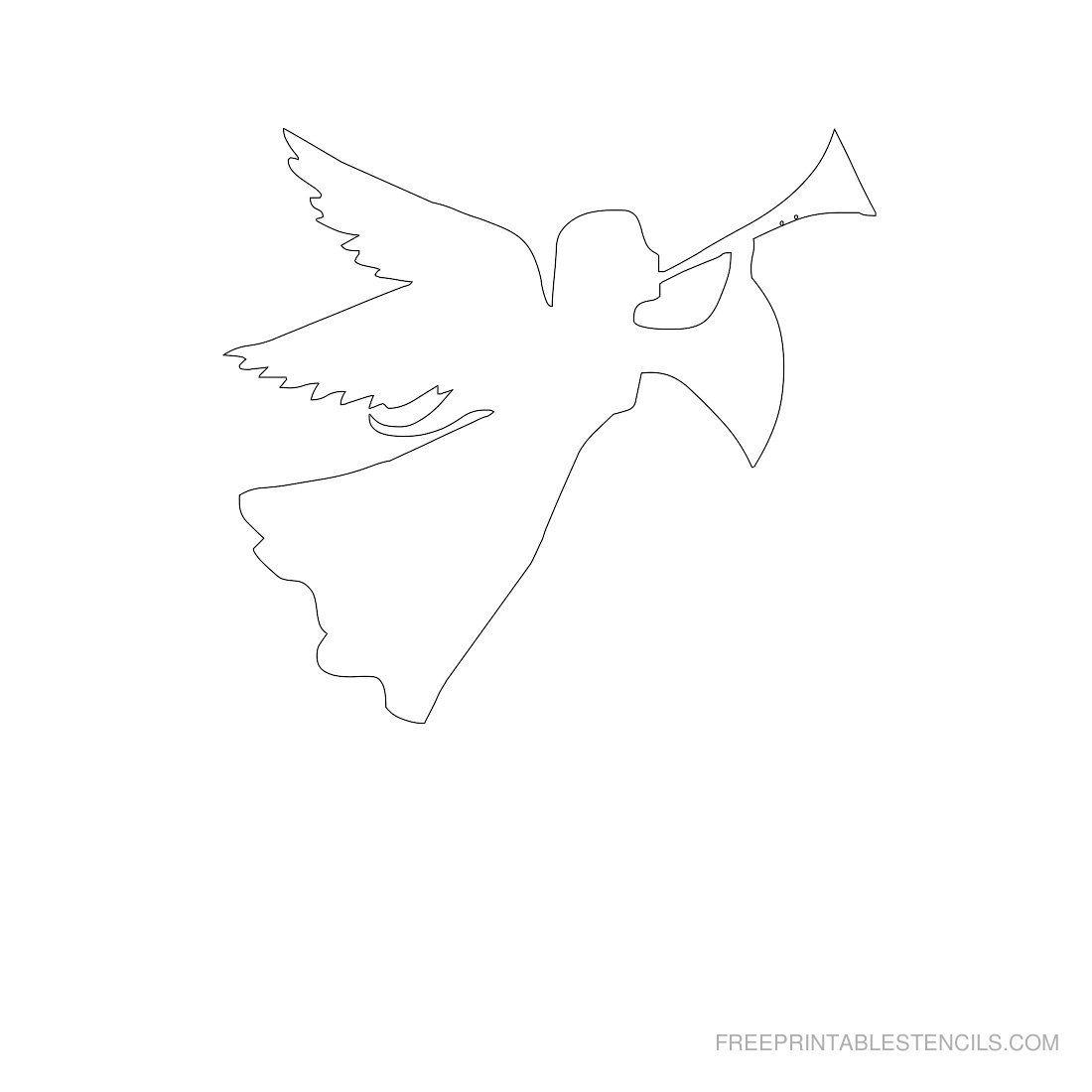 Pinstephanie Bargelski On Angels   Pinterest   Free Stencils - Free Printable Angels