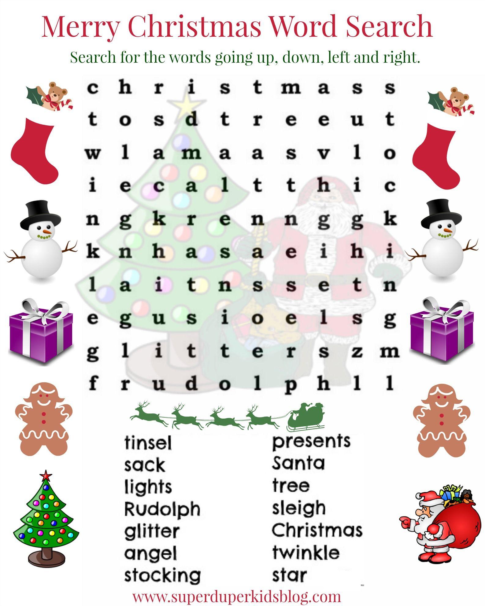 Pinsuperduperkidsblog On Free Printables | Pinterest | Christmas - Free Printable Christmas Word Search