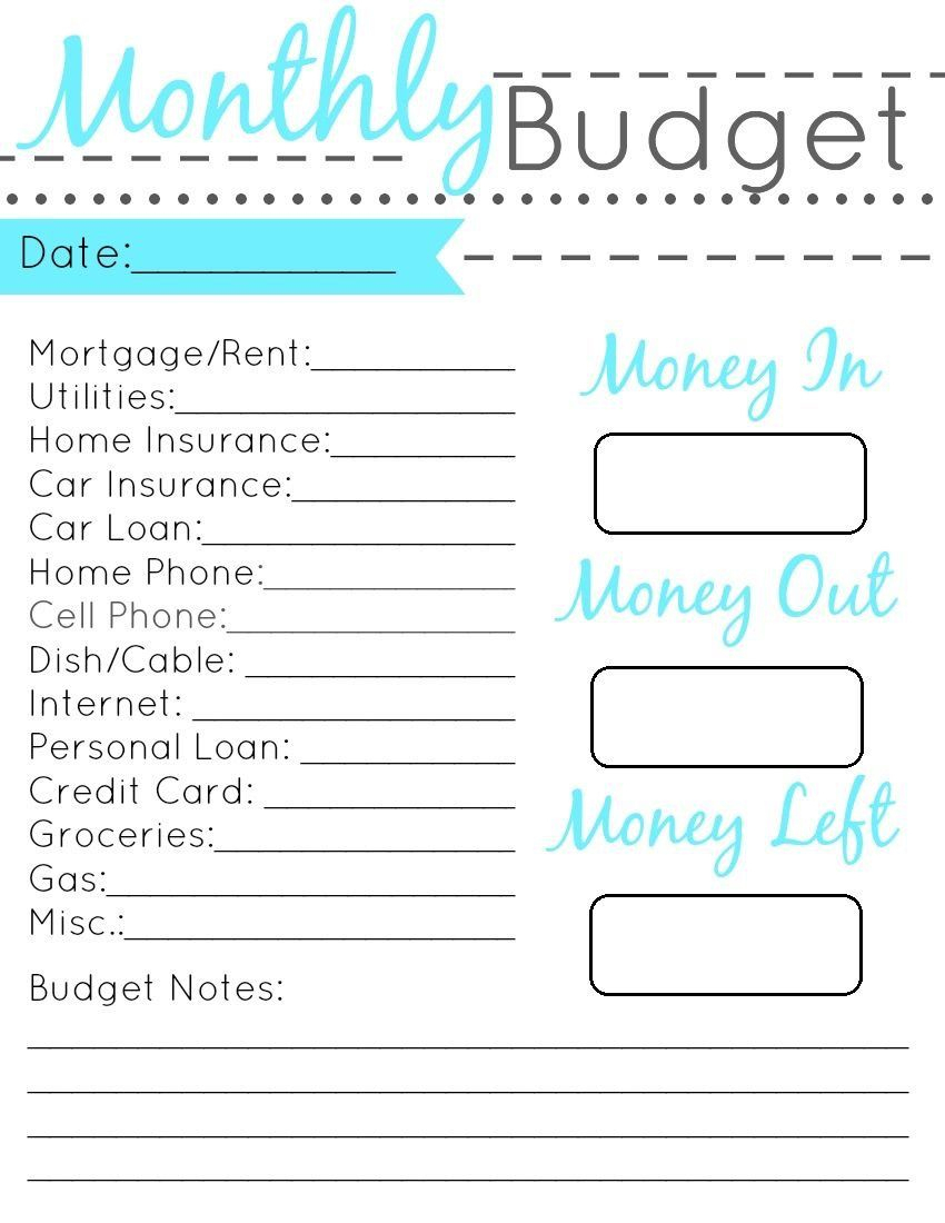 Pintiffany Peppers On Budgeting For Beginners | Pinterest - Free Printable Budget Planner Uk