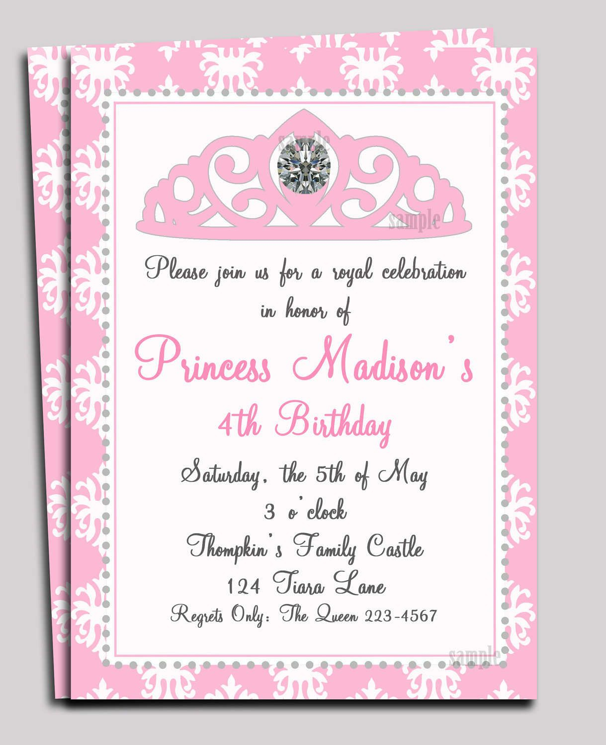 Pinwendy Coxon On Princess Nadia | Princess Invitations - Free Printable Princess Baby Shower Invitations