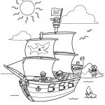 Pirate Ship Coloring Pages Kidsfreecoloring | Free Download Kids   Free Printable Boat Pictures