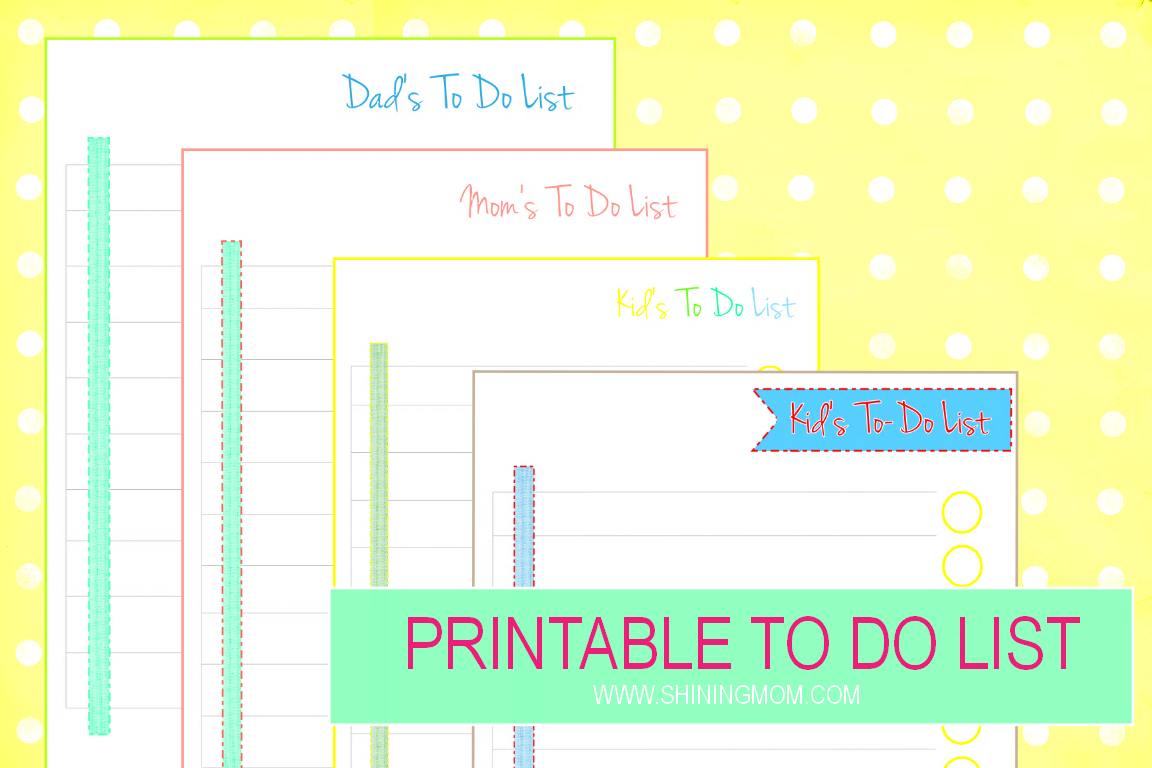 Plan Your Day Ahead With These Printable To-Do List Sheets! - Free Printable Kids To Do List