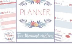 Planner 2018 Printable Free