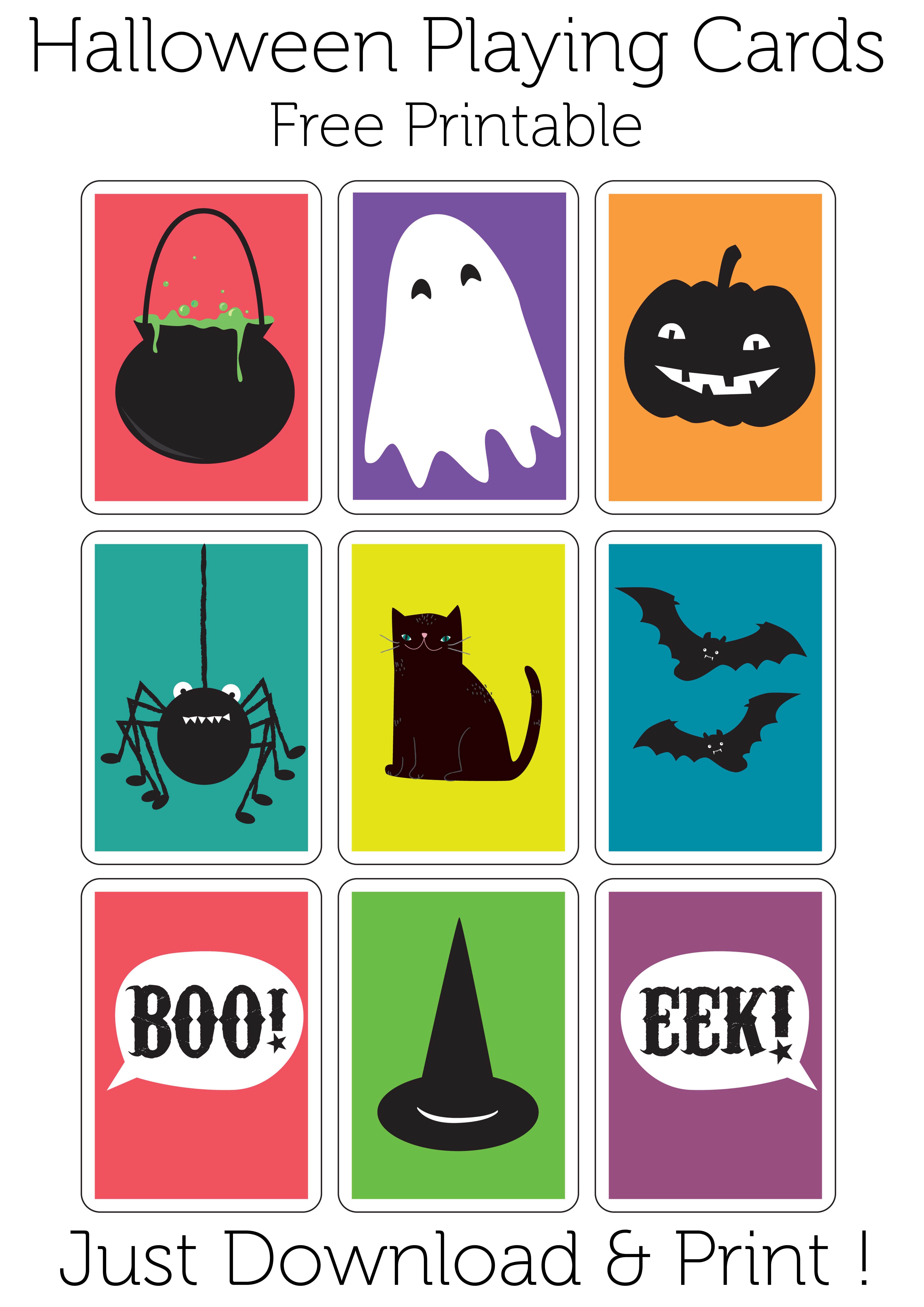 Play A Game Of Haunted Snap With These Halloween Playing Cards. Free - Free Printable Snap Cards