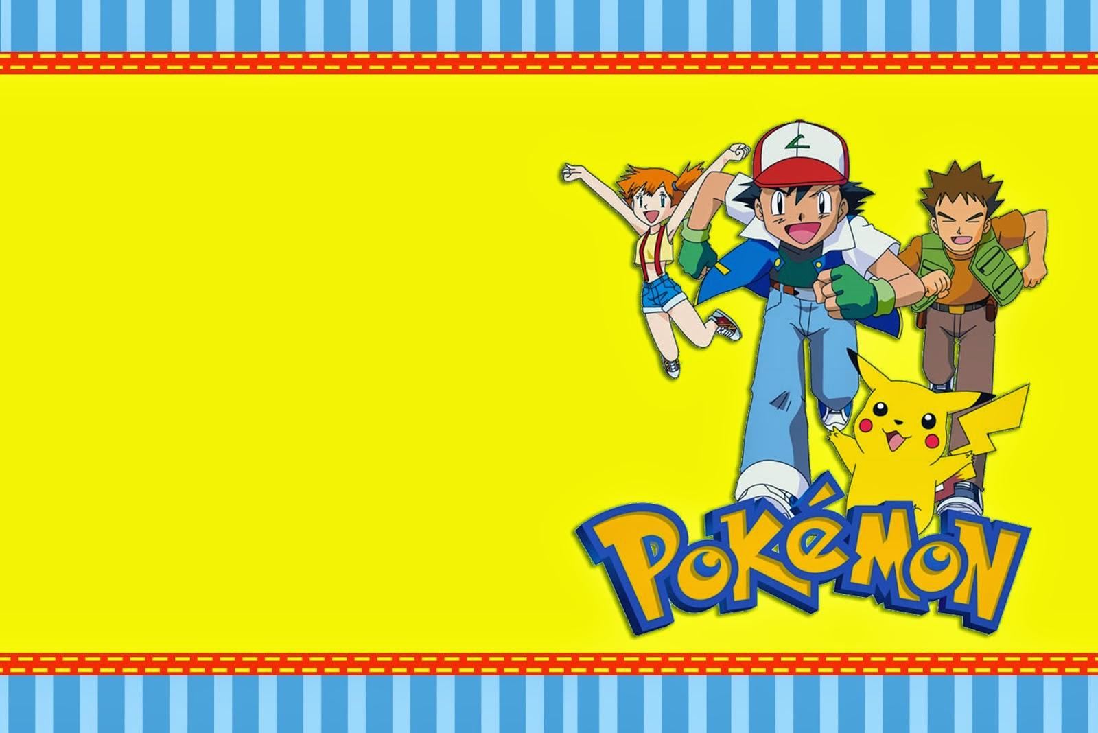 Pokemon: Free Printable Invitations. - Oh My Fiesta! For Geeks - Free Printable Pokemon Birthday Invitations