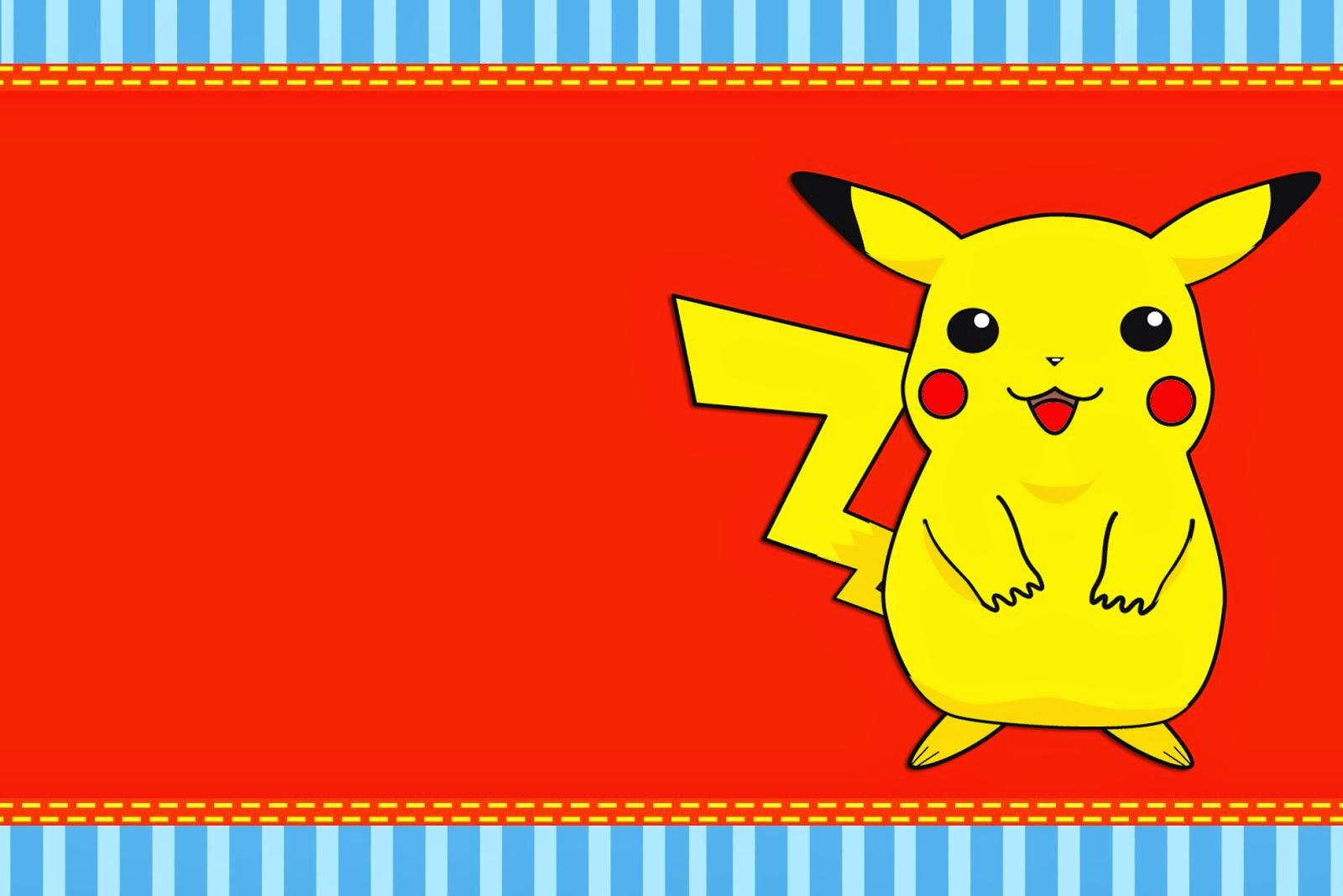 Pokemon: Free Printable Invitations. - Oh My Fiesta! For Geeks - Pokemon Invitations Printable Free