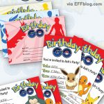 Pokémon Go: Birthday Go Free Printable Invitations   Free Printable Pokemon Birthday Invitations