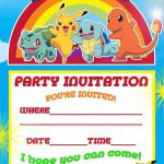 Pokemon Theme For A Kid's Birthday Party | Birthday Aayu | Pinterest   Free Printable Pokemon Birthday Invitations