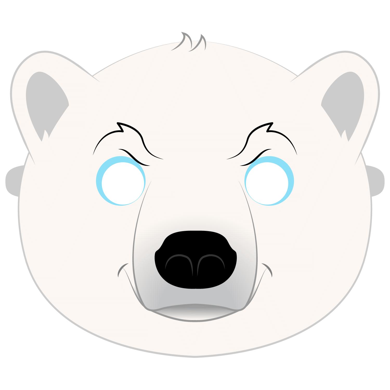 Polar Bear Mask Template | Free Printable Papercraft Templates - Free Printable Bear Mask