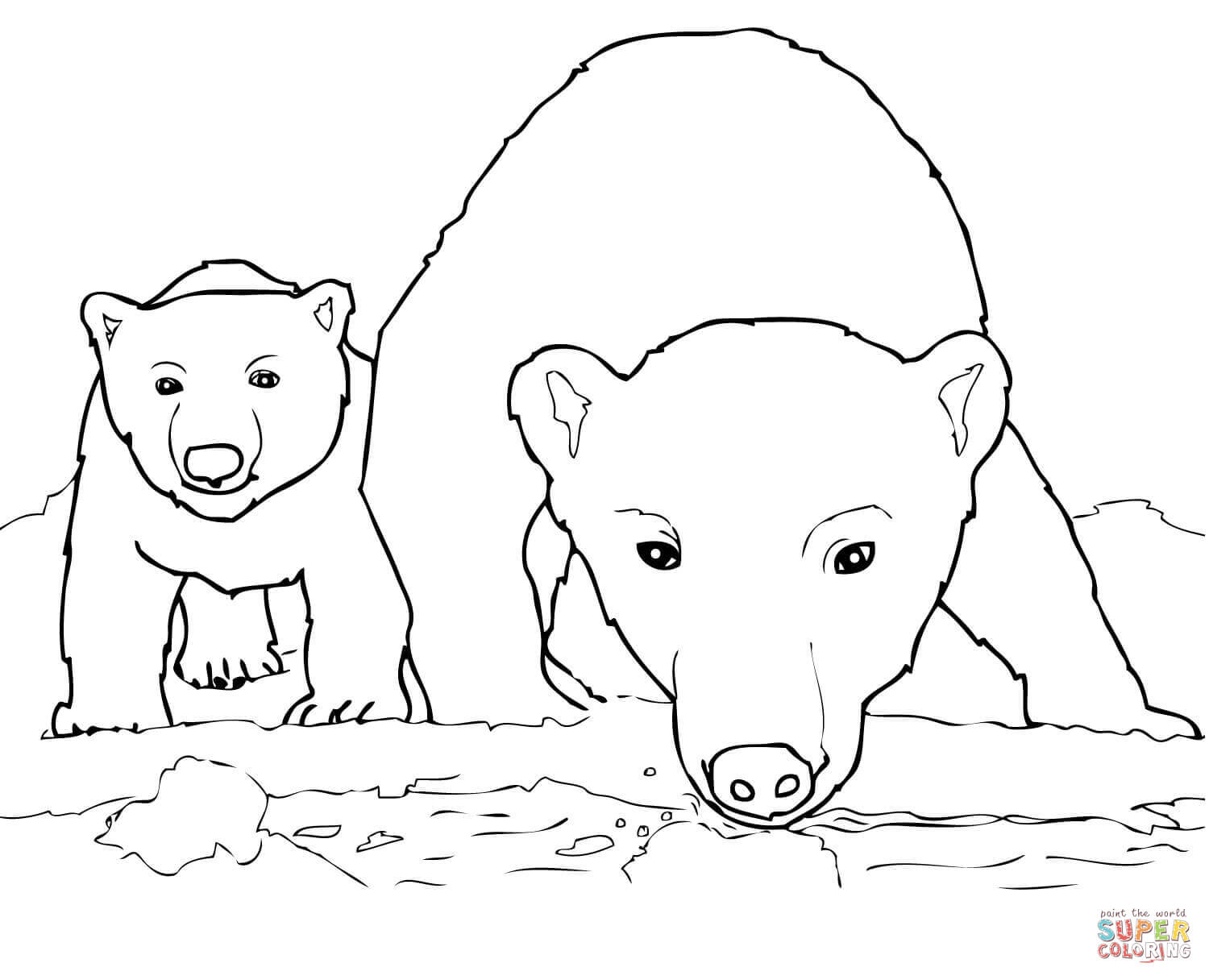 Polar Bears Coloring Pages   Free Coloring Pages - Polar Bear Printable Pictures Free