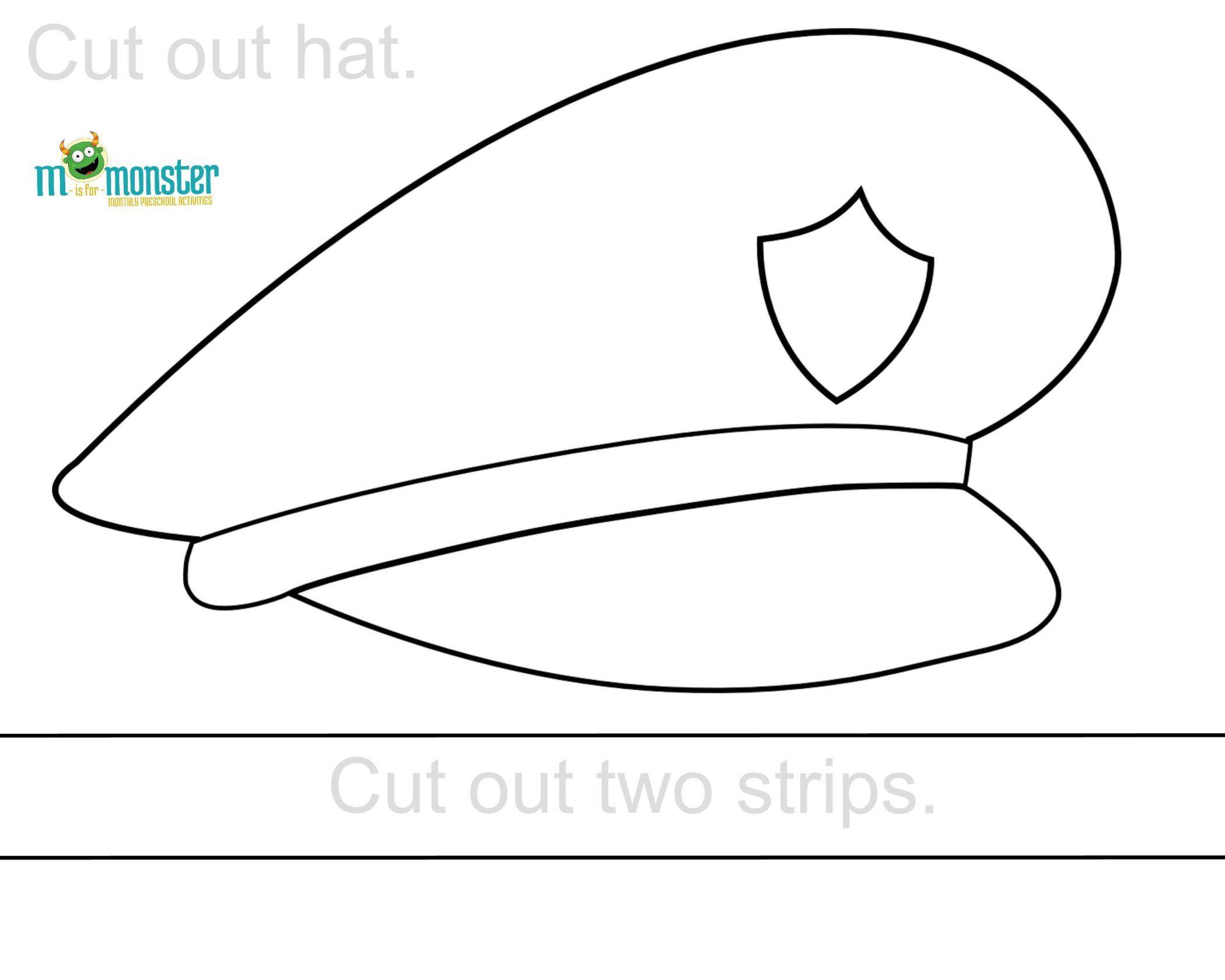 Police Hat Printable | Toddler & Preschool Printables | Police - Free Printable Police Hat