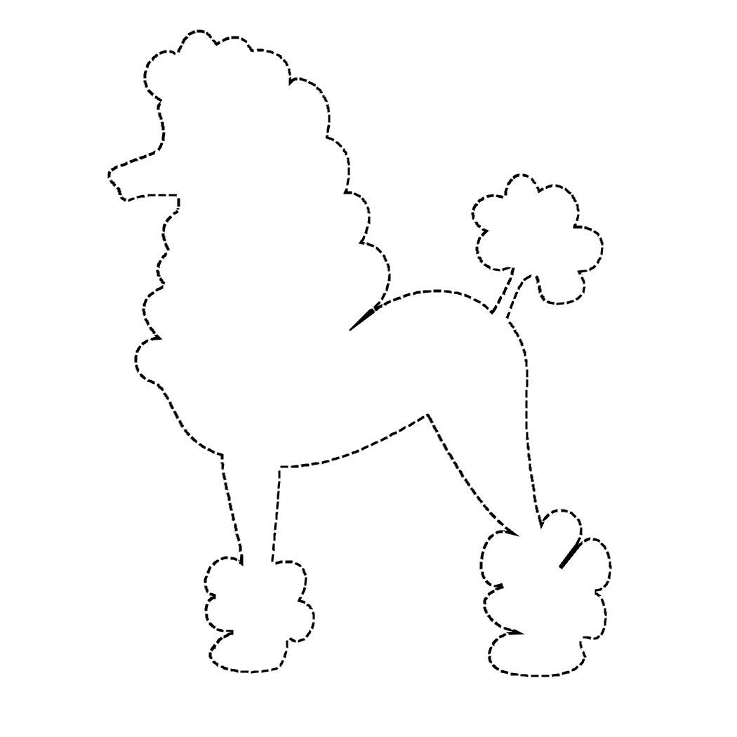 Poodle Applique Pattern Design Patterns | Travel | Pinterest - Free Printable Poodle Template