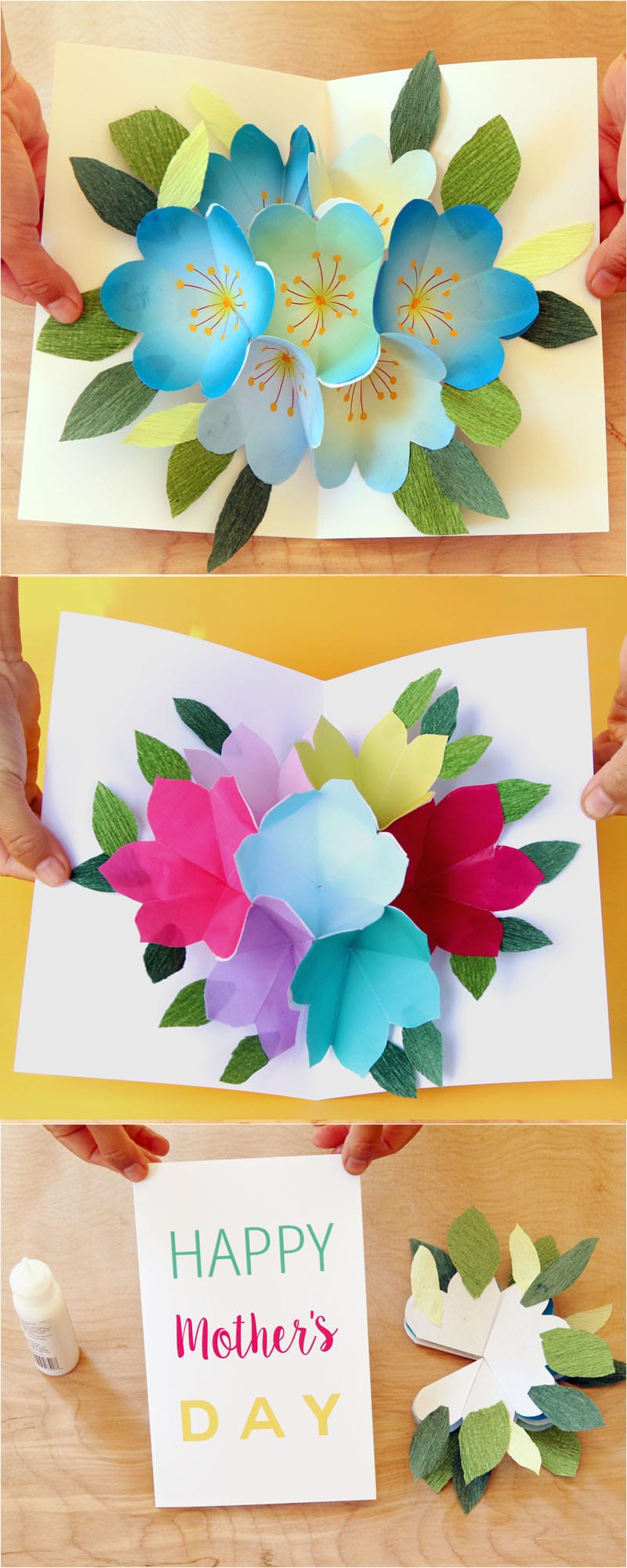 Pop Up Flowers Diy Printable Mother's Day Card - A Piece Of Rainbow - Free Printable Mothers Day Cards No Download