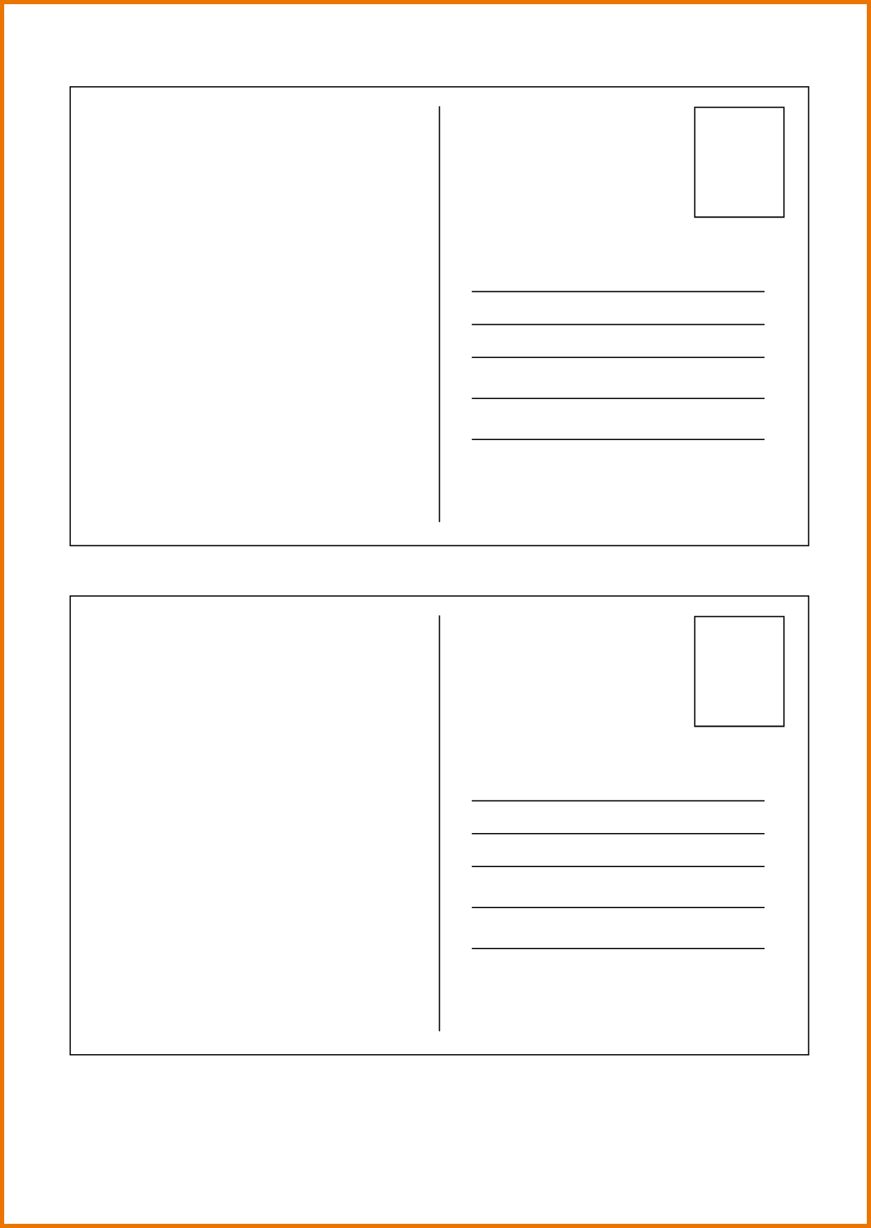 Postcard Template Postcard Printing Postcard Template Postcard - Free Printable Postcard Template