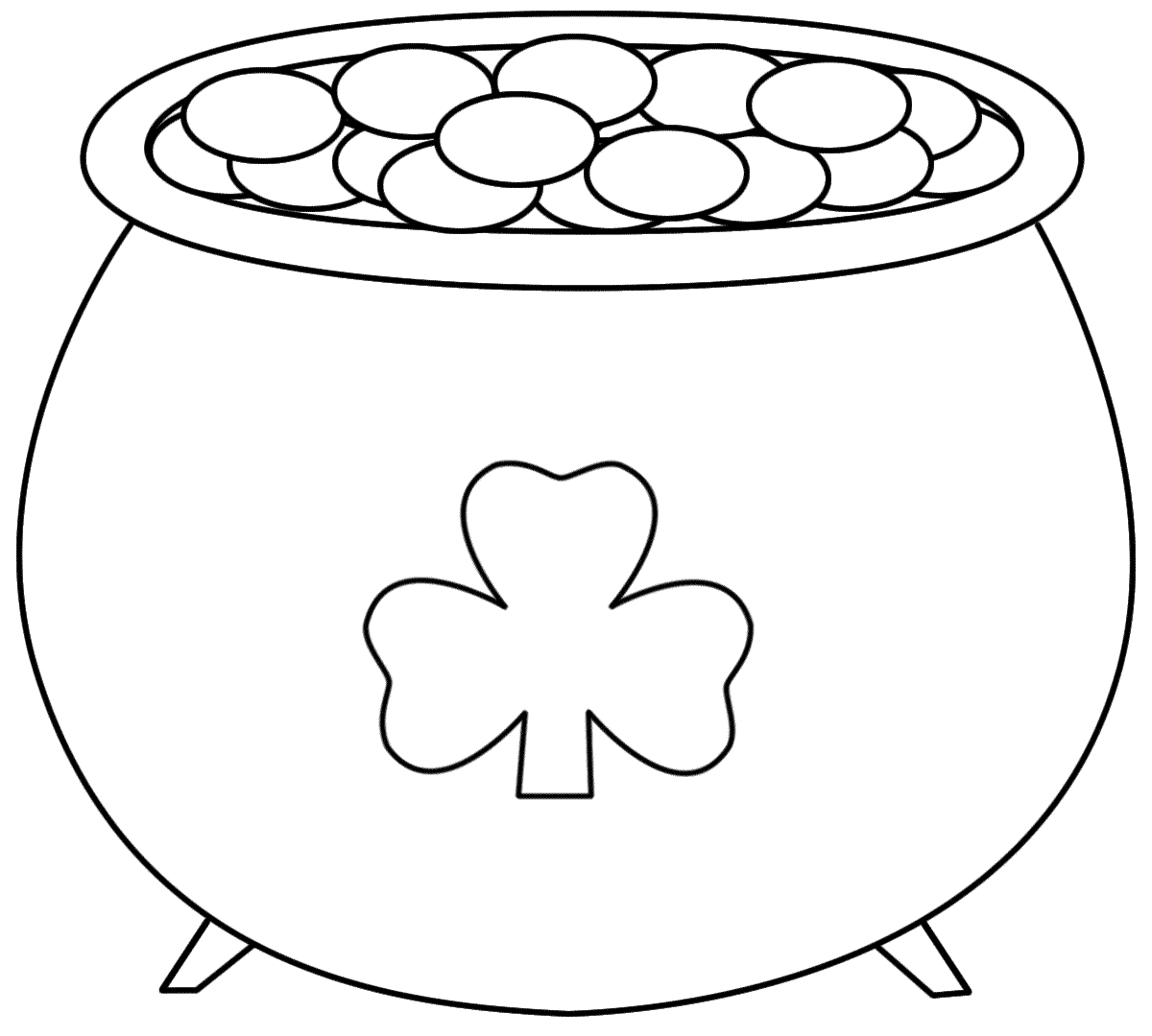 Pot+Of+Gold+Printable | Pot Of Gold - Coloring Pages | Saint - Free Printable Pot Of Gold Coloring Pages