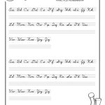 Practice Penmanship – Free Abc's Printable Cursive Writing Worksheet   Free Printable Writing Worksheets