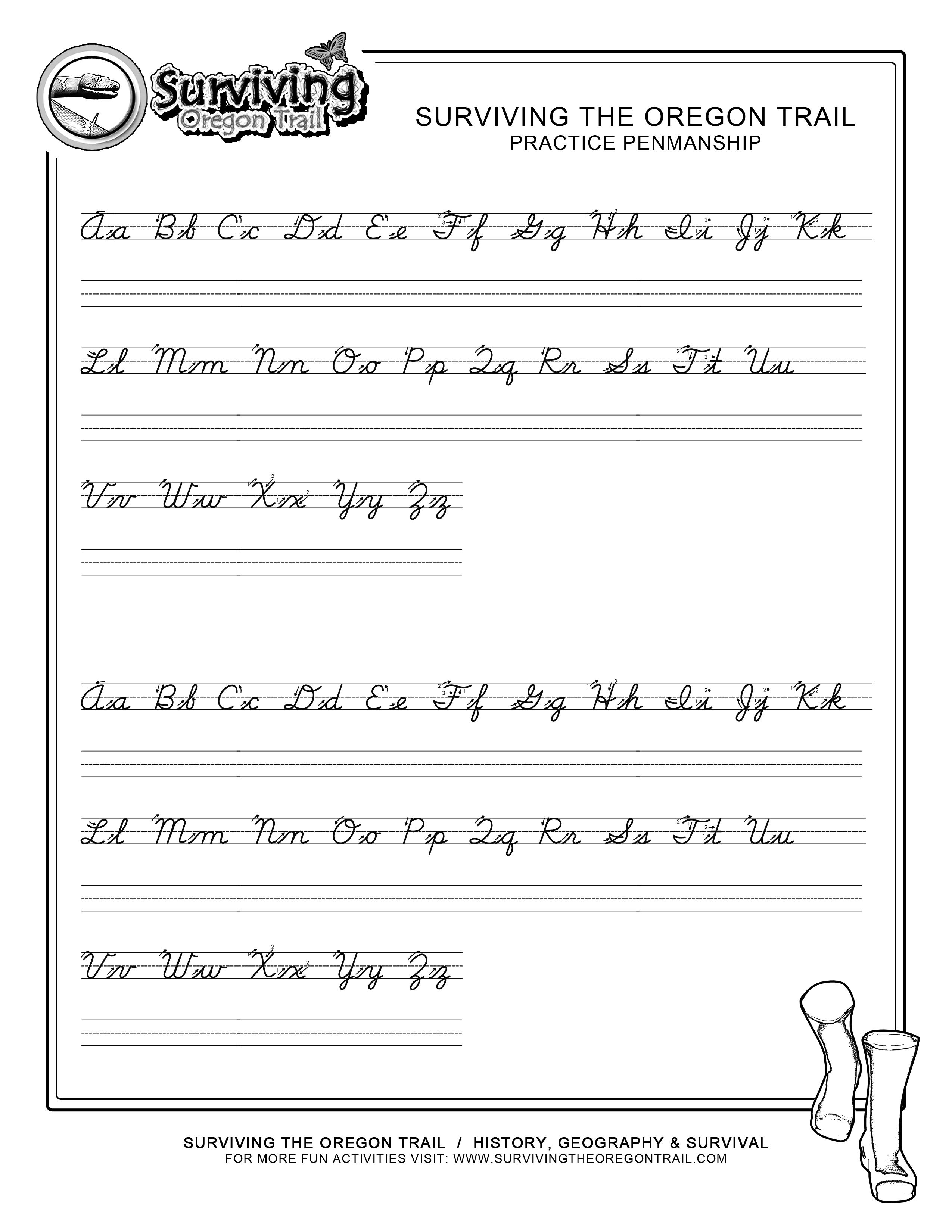 Practice Penmanship – Free Abc's Printable Cursive Writing Worksheet - Free Printable Writing Worksheets