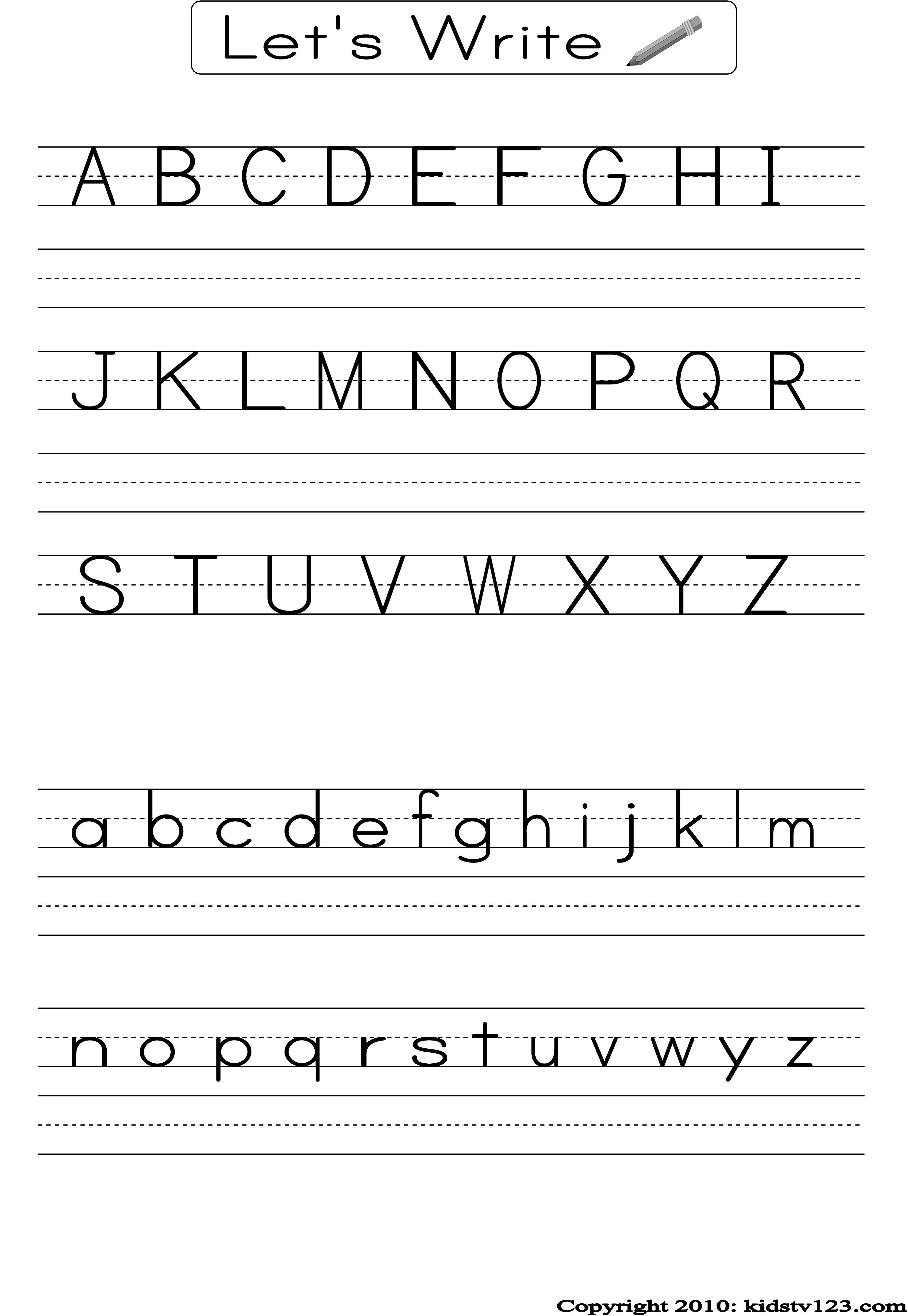 Preschool Alphabet Worksheets Free Printables Alphabet Letters - Free Printable Alphabet Pages