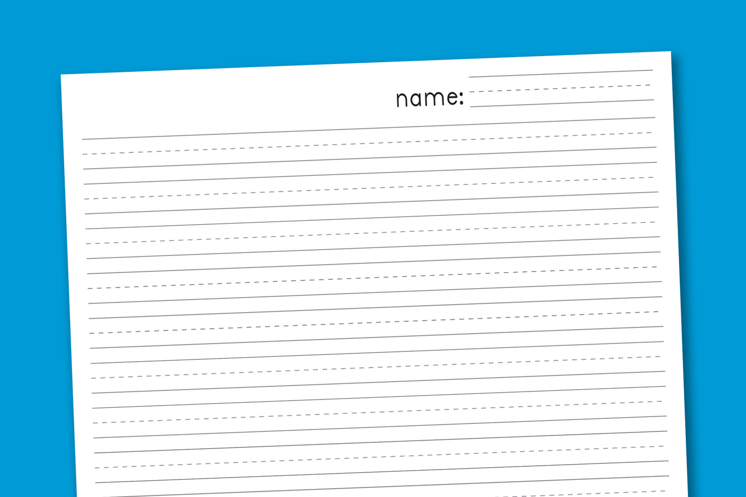 Primary Handwriting Paper - Paging Supermom - Blank Handwriting Worksheets Printable Free