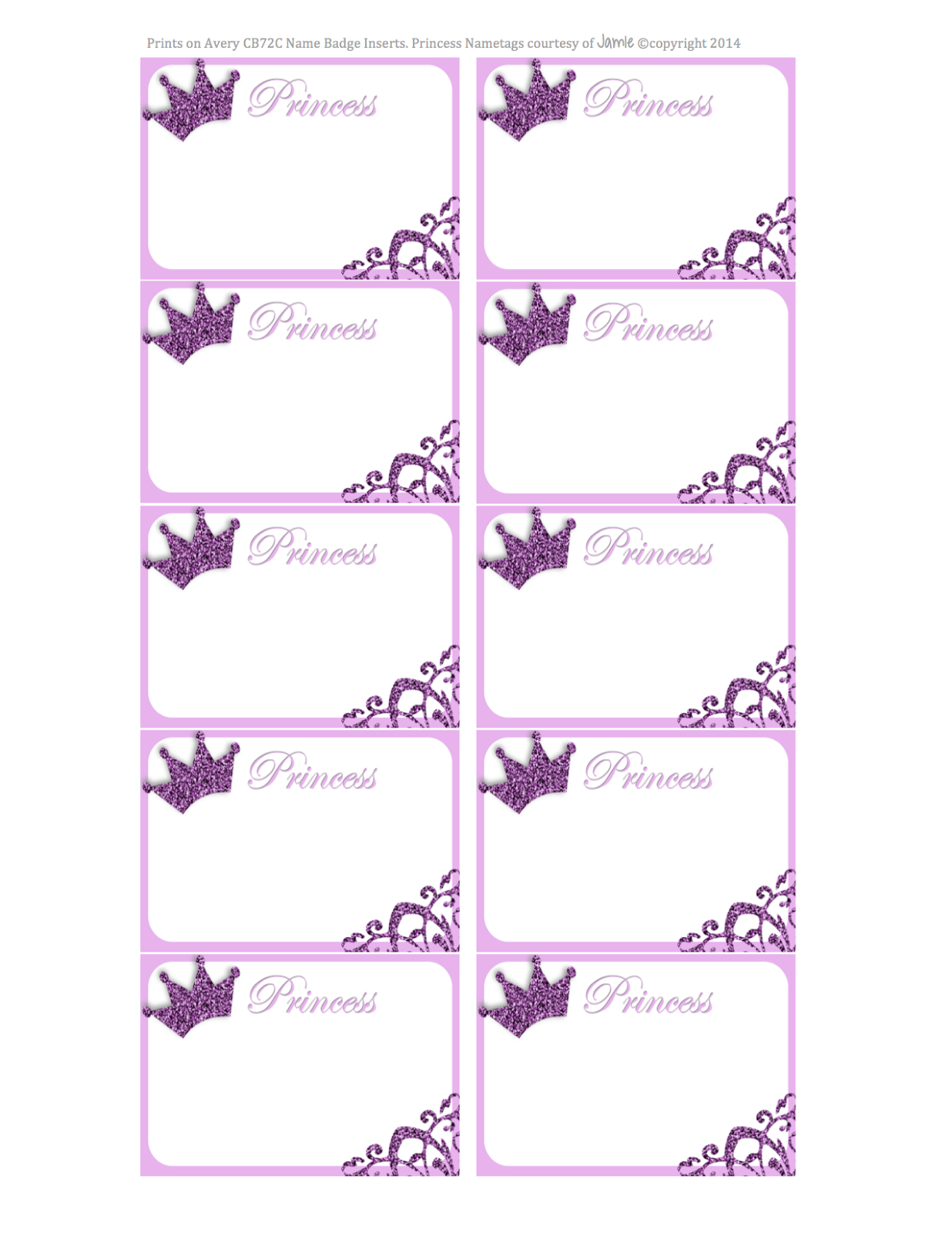 Princess Labels - Free Printable | Kids | Printables, Name Tags - Free Printable Name Tags For Students