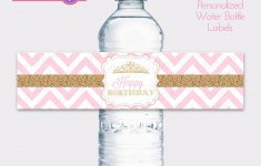 Free Printable Water Bottle Labels For Birthday