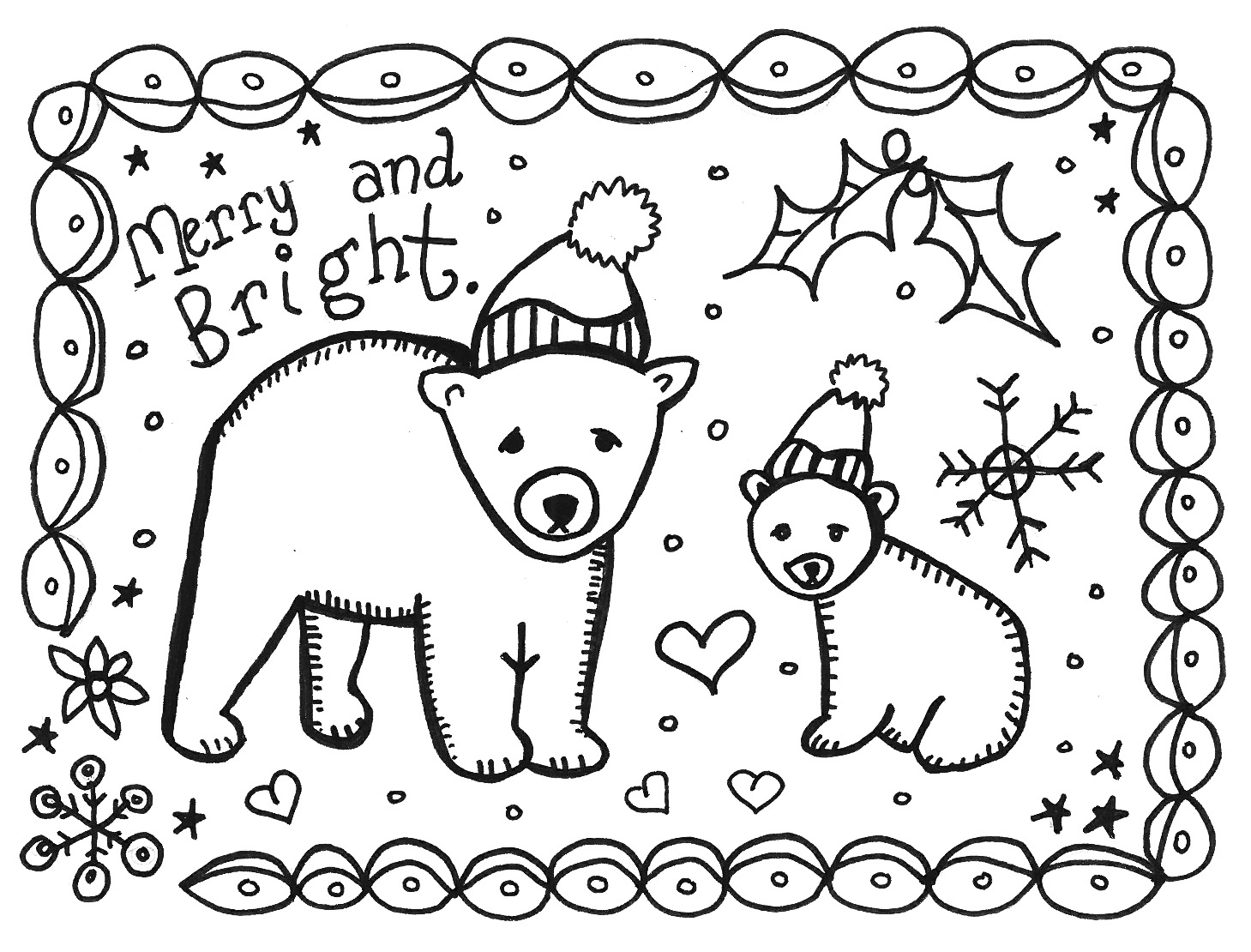 Print And Color This Card To Give - Marcia Beckett - Make A Holiday Card For Free Printable
