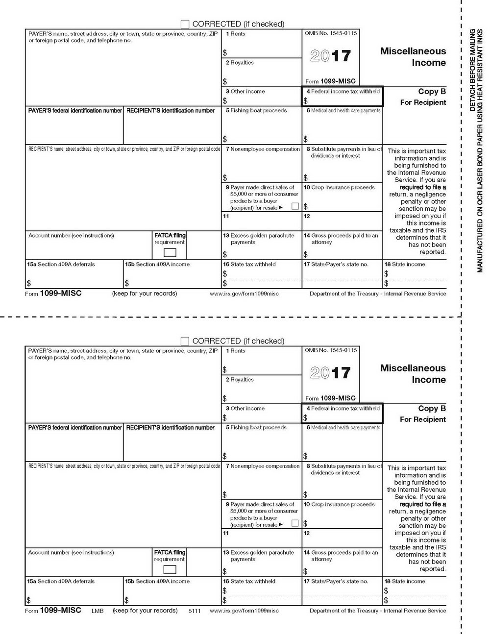 Printable 1099 Form 2017 Free | Mbm Legal - Free Printable 1099 Misc Forms