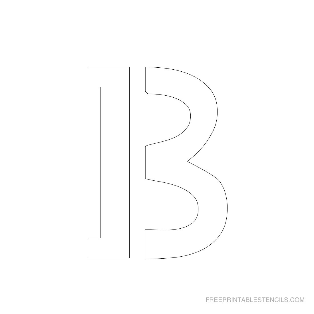 Printable 3 Inch Letter Stencils A-Z | Free Printable Stencils - Free Printable 3 Inch Number Stencils
