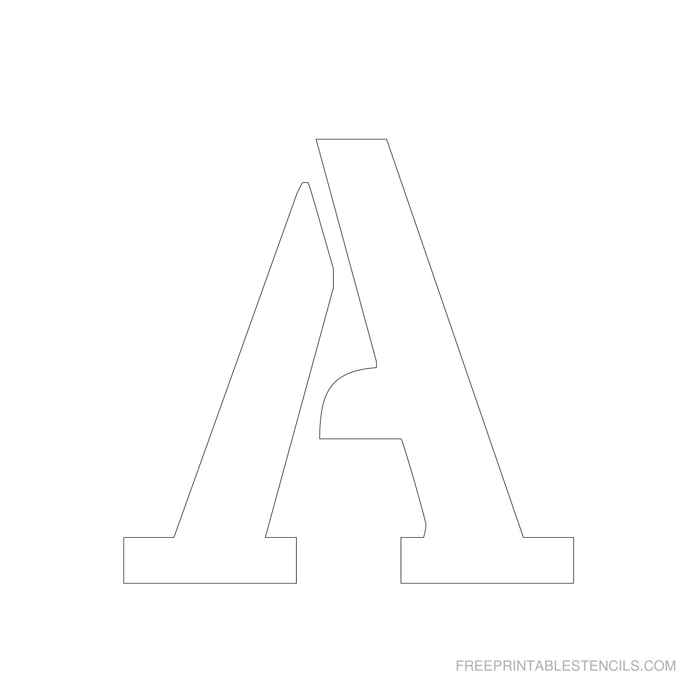 Printable 4 Inch Letter Stencils A-Z   Free Printable Stencils - Free Printable 4 Inch Block Letters