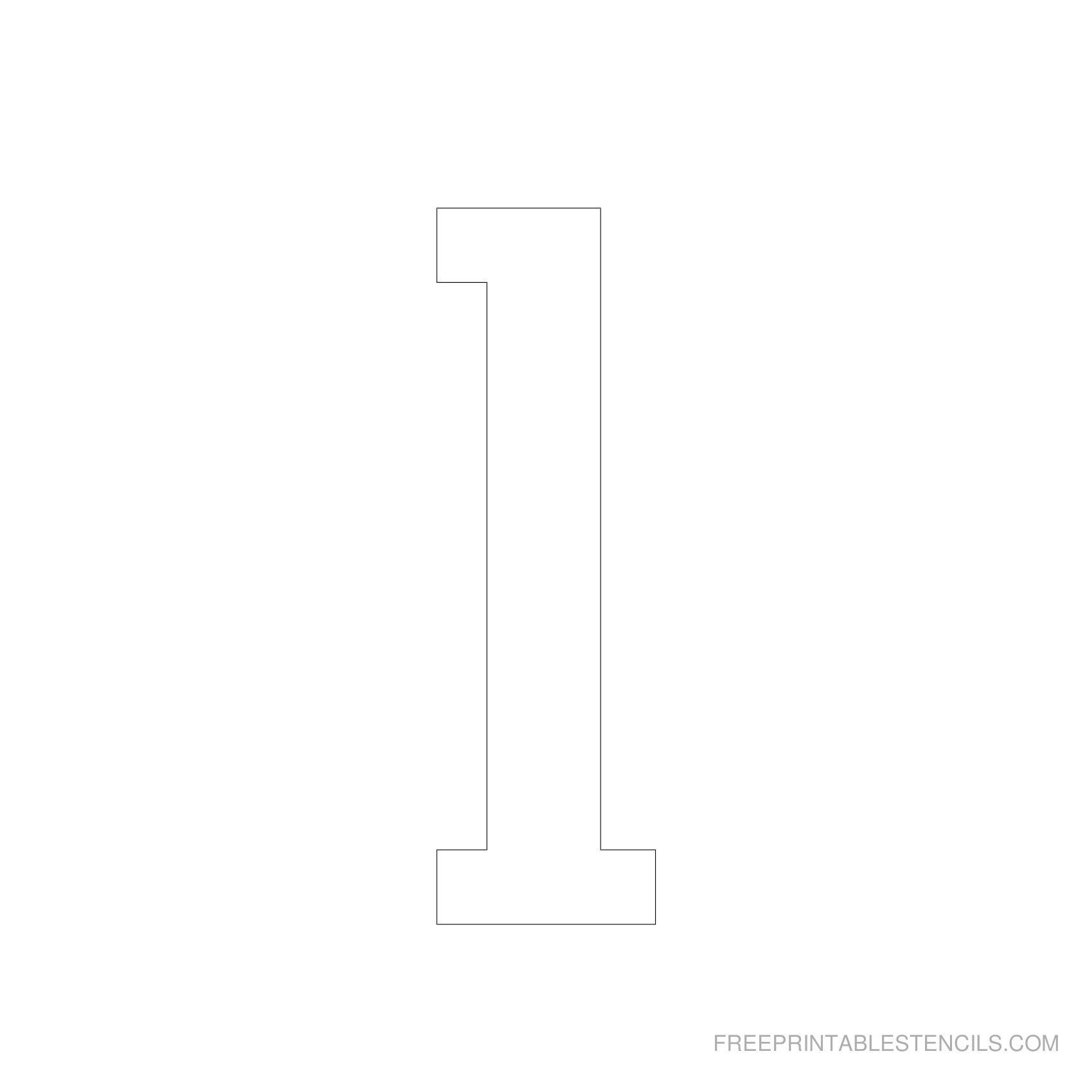 Printable 5 Inch Number Stencils 1-10 | Free Printable Stencils - Free Printable 5 Inch Number Stencils
