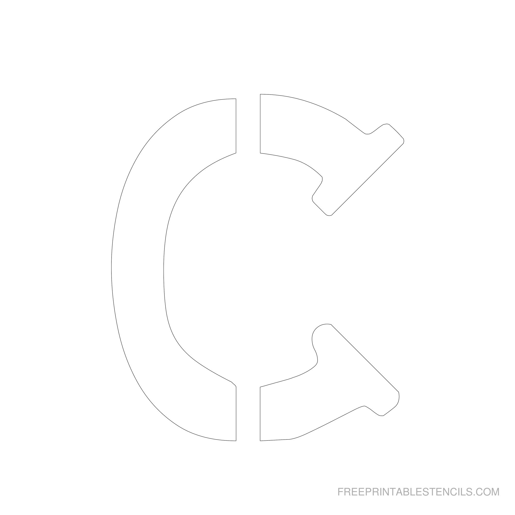 Printable 6 Inch Letter Stencils A-Z   Free Printable Stencils - Free Printable Cookie Stencils