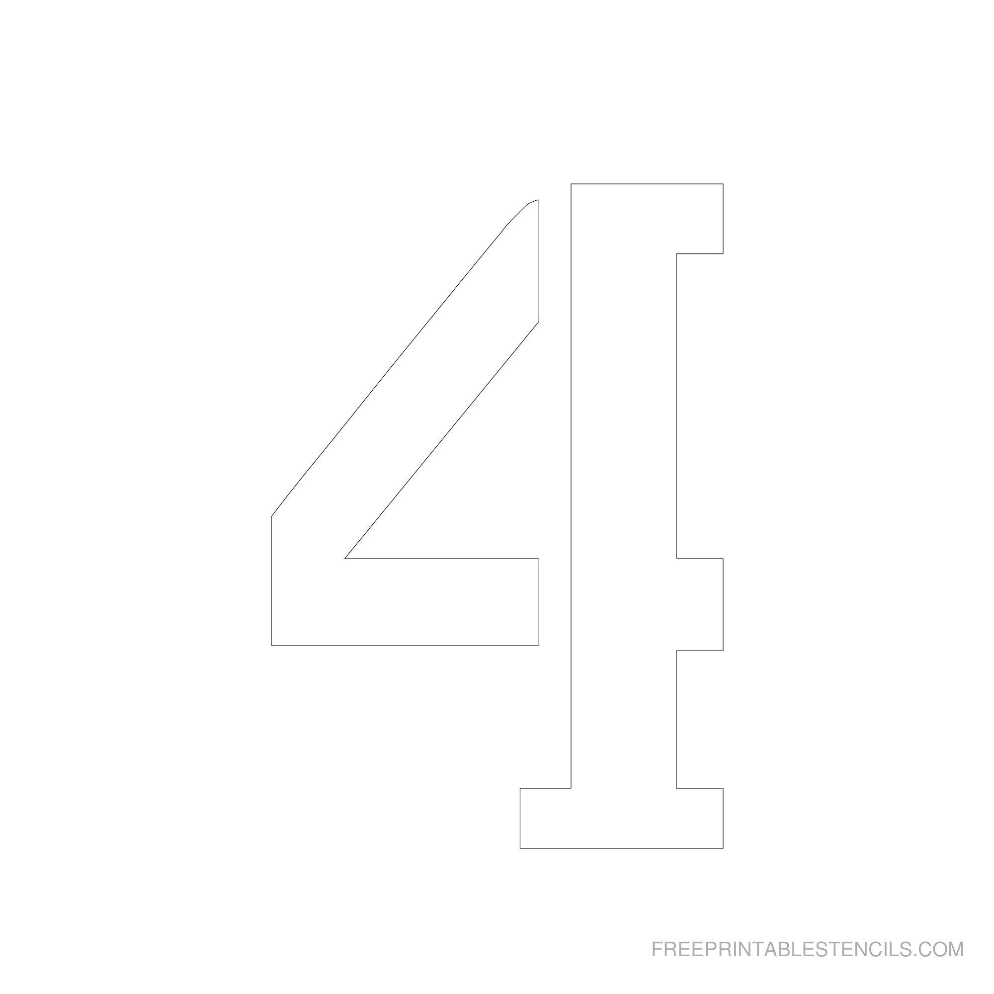 Printable 6 Inch Number Stencils 1-10   Free Printable Stencils - Free Printable Number Stencils