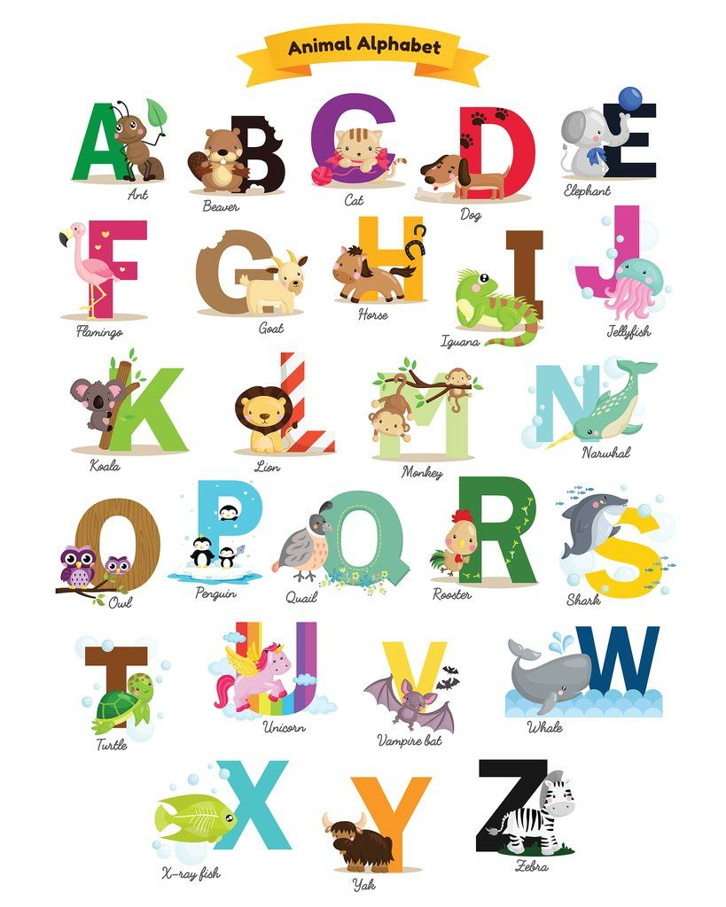 Printable Alphabet Every Child Should Have | Miles' Nursery - Free Printable Animal Alphabet Letters