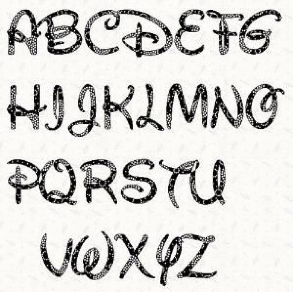 Printable Alphabet Letter Stencil: Walt Disney Alphabet Template In - Free Printable Disney Alphabet Letters