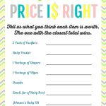 Printable Baby Shower Games   Price Is Right And Bingo | Baby Shower   Free Printable Templates For Baby Shower Games