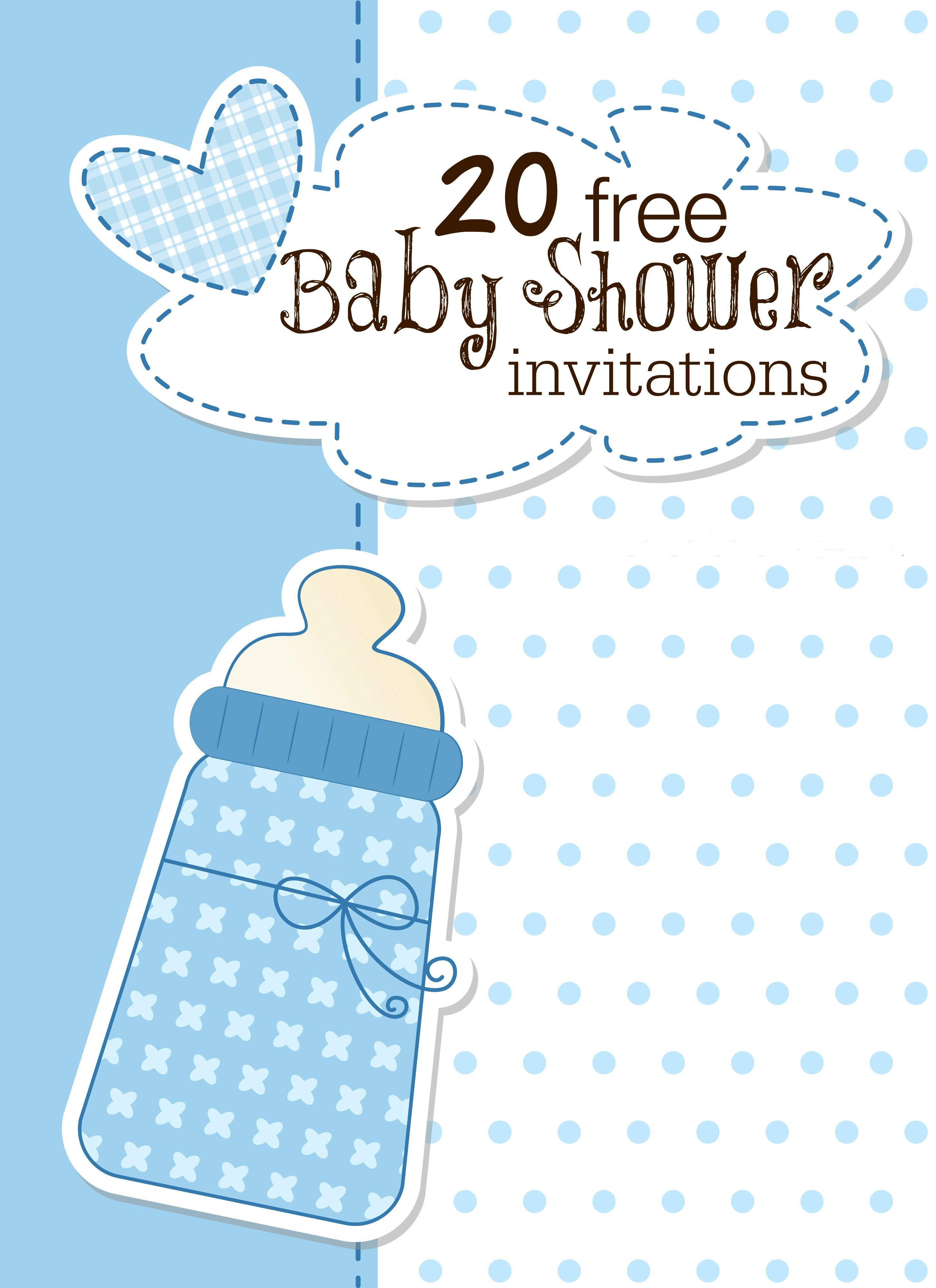 Printable Baby Shower Invitations - Free Printable Blank Baby Shower Invitations