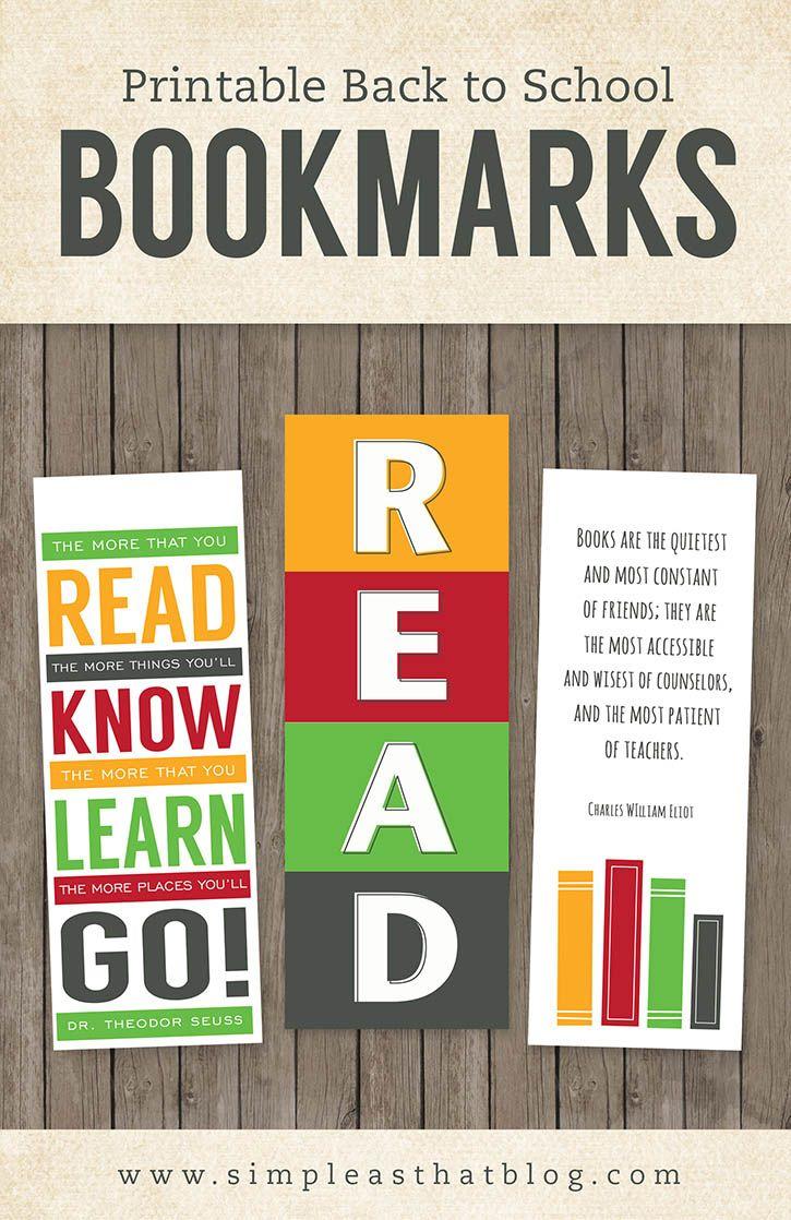 Printable Back To School Bookmarks   Teacher Freebies And Downloads - Free Printable Bookmarks For Libraries