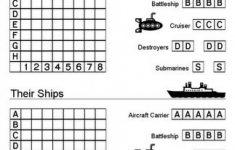 Free Printable Battleship Game