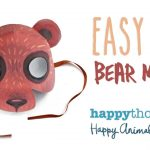 Printable Bear Mask Template + Easy Diy Costume Idea!   Youtube   Free Printable Bear Mask