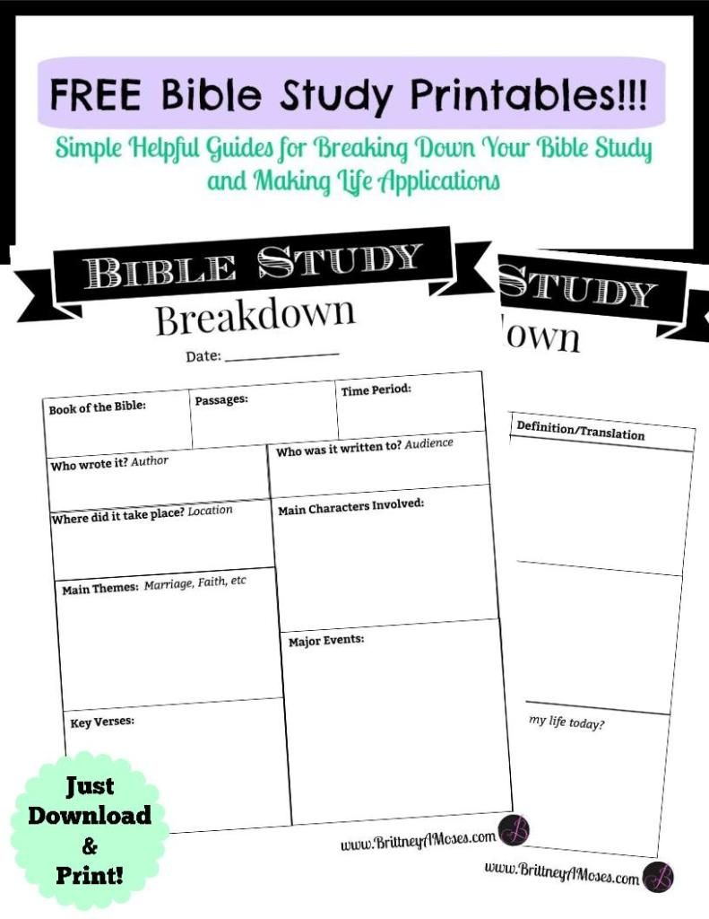 Printable Bible Study Guide | Inspirational | Pinterest | Bible - Free Printable Bible Studies For Women