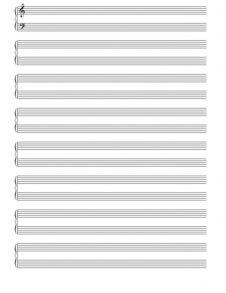 Printable Blank Staves And Tabs - Free Music Sheet | Music | Free - Free Printable Staff Paper Blank Sheet Music Net