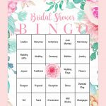 Printable Bridal Shower Bingo Cards | Bridal Showers | Bridal Shower   Free Printable Bridal Shower Bingo