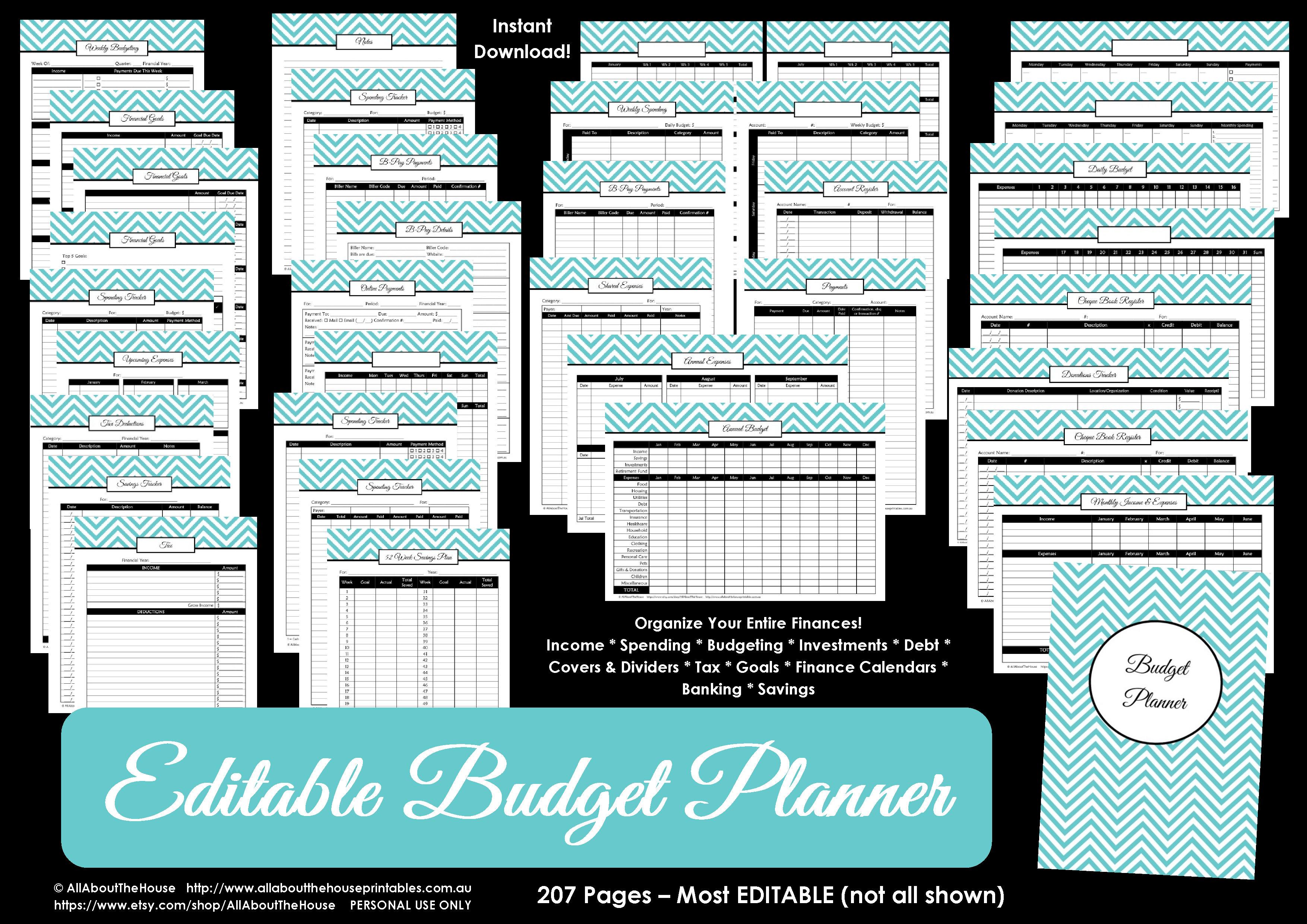 Printable Budget Planner/finance Binder Update - All About Planners - Free Printable Family Budget